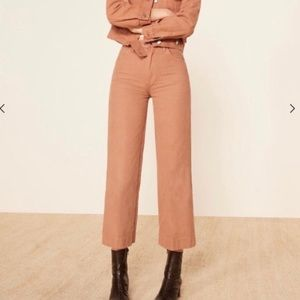 Reformation Chevy Cherry Pant In Nutmeg